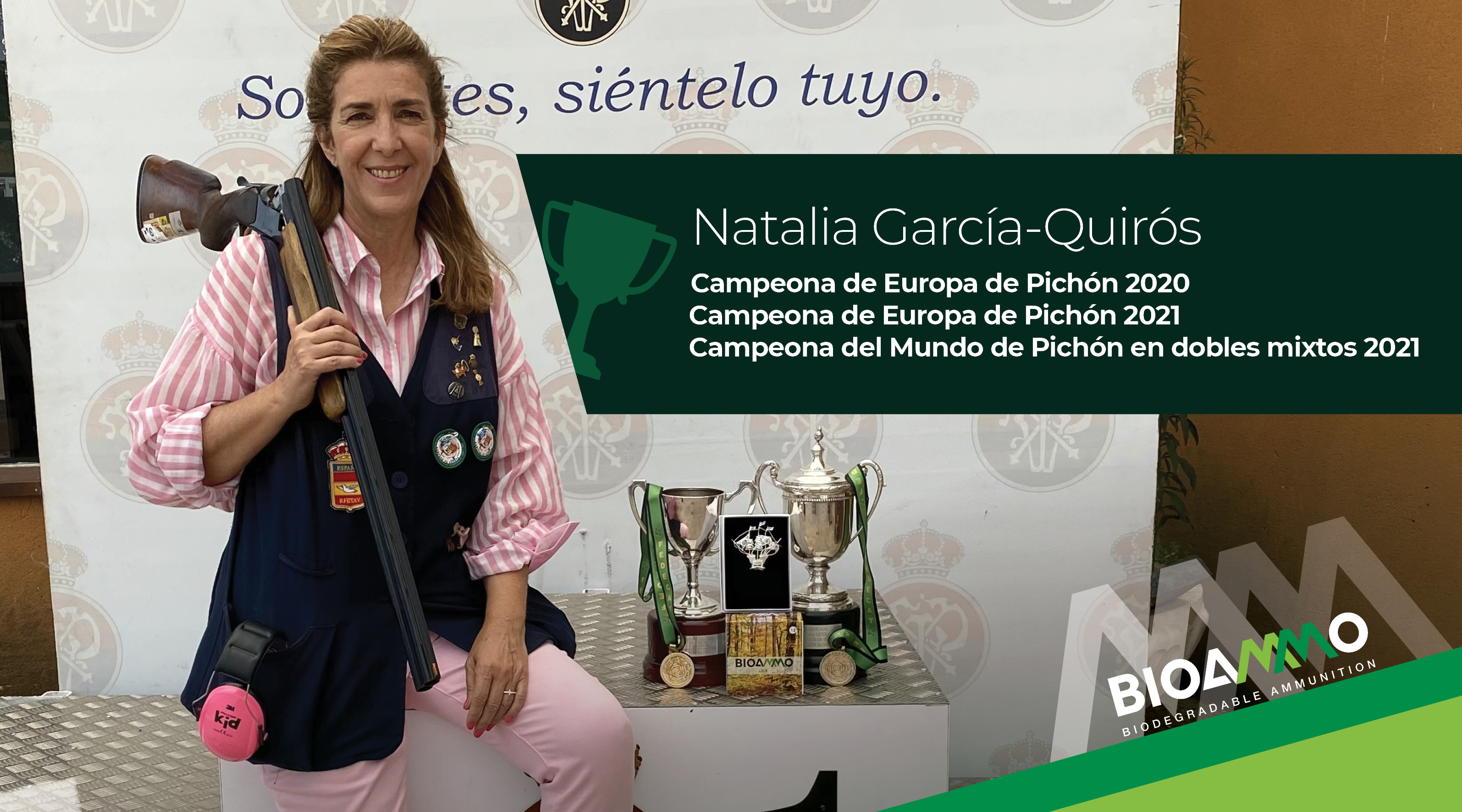 Natalia García-Quirós World Champion with Bioammo